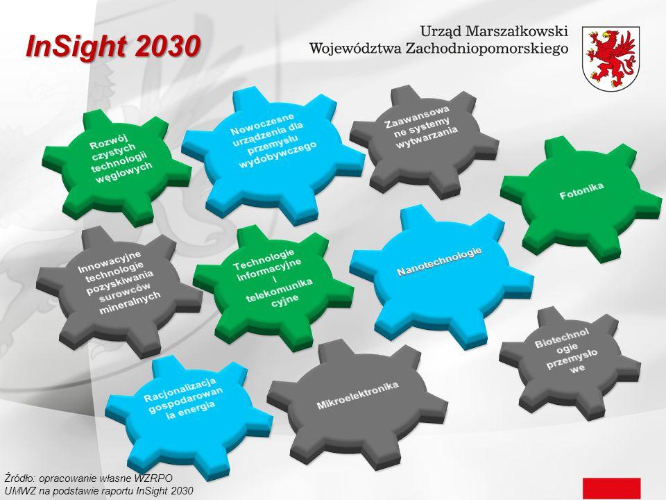 InSight 2030 Źródło: opracowanie własne WZRPO UMWZ na podstawie raportu InSight 2030