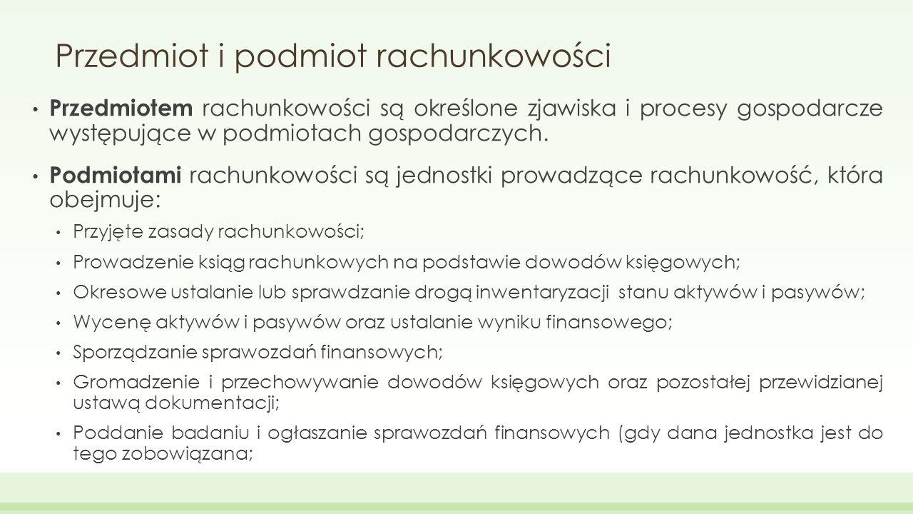 Zasady rachunkowości 1.Memoriału 2. Współmierności 3.