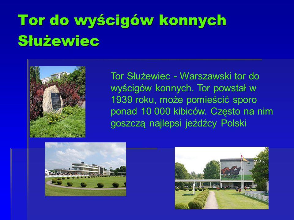 Tor do wyścigów konnych Służewiec Tor Służewiec - Warszawski tor do wyścigów konnych. Tor powstał w 1939 roku, może pomieścić sporo ponad 10 000 kibic