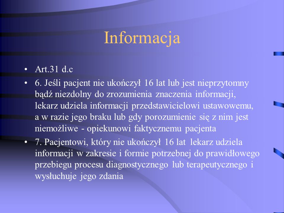 Informacja Art.31 d.c 6.