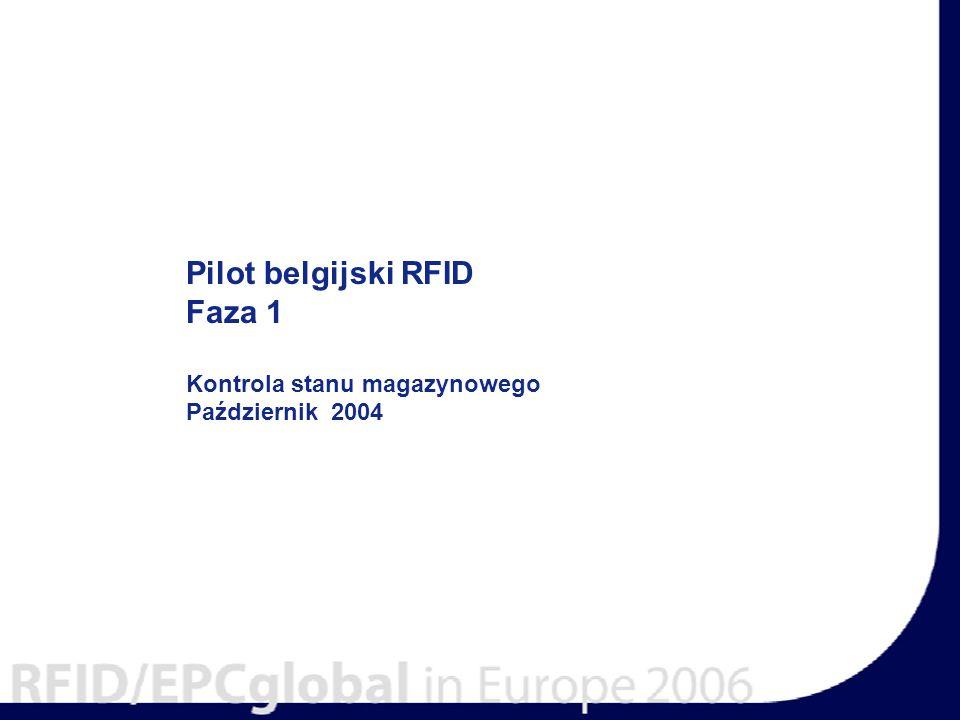 Pilot belgijski RFID Faza 1 Kontrola stanu magazynowego Październik 2004