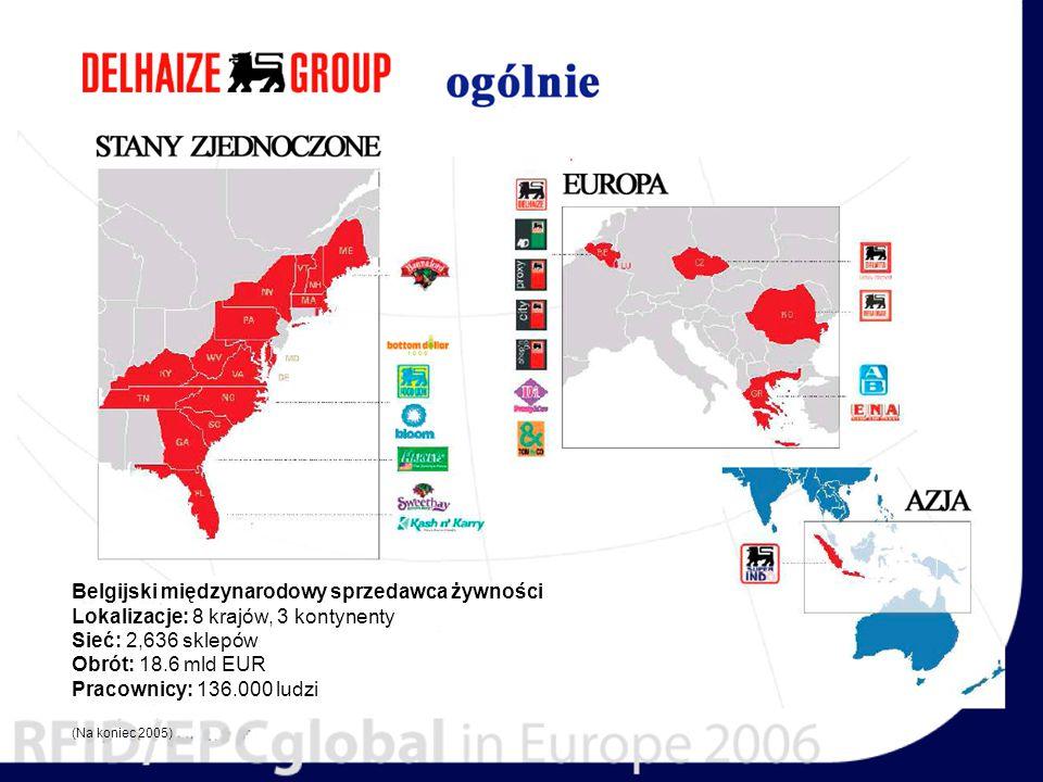 Belgijski międzynarodowy sprzedawca żywności Lokalizacje: 8 krajów, 3 kontynenty Sieć: 2,636 sklepów Obrót: 18.6 mld EUR Pracownicy: 136.000 ludzi (Na koniec 2005)