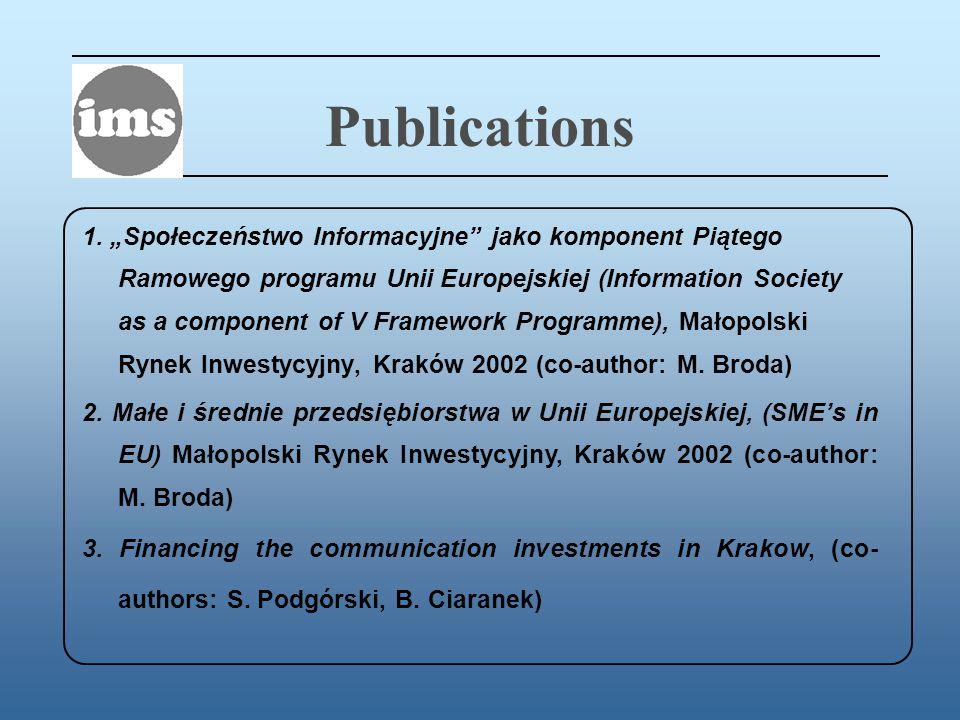Publications 1.