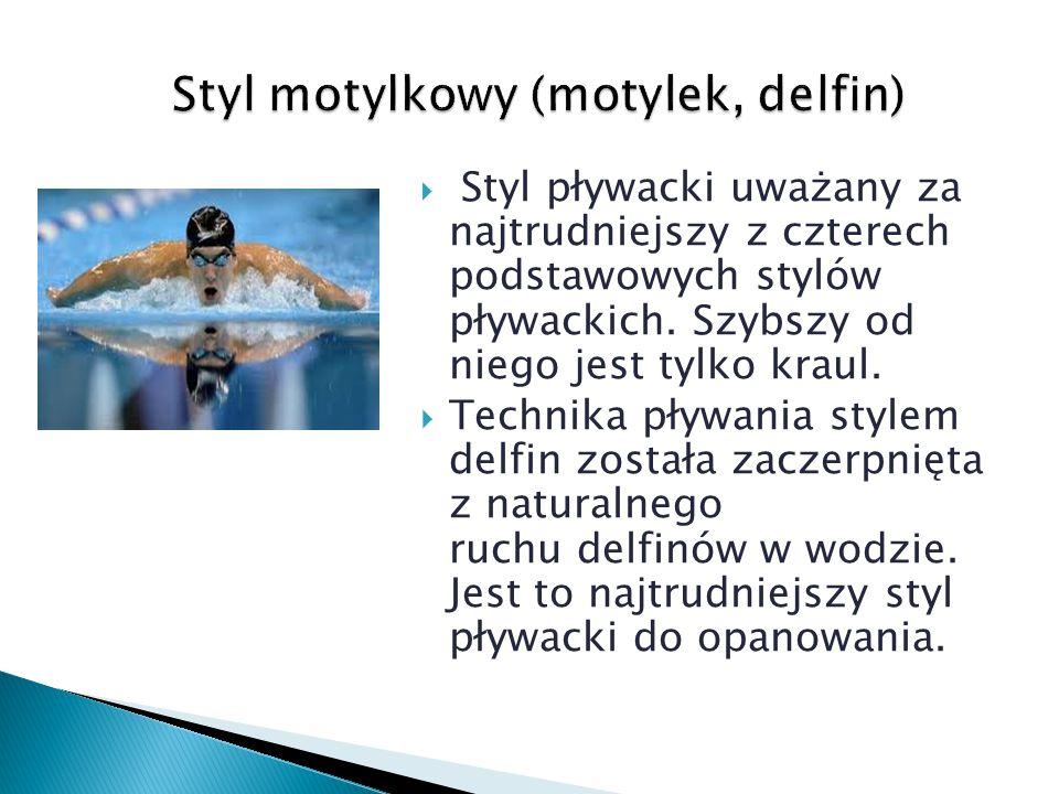  Styl pływacki uważany za najtrudniejszy z czterech podstawowych stylów pływackich. Szybszy od niego jest tylko kraul.  Technika pływania stylem del
