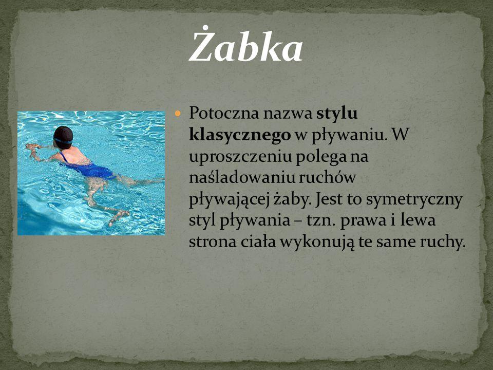  Styl grzbietowy jest jedynym stylem pływania, w którym pływa się na plecach.