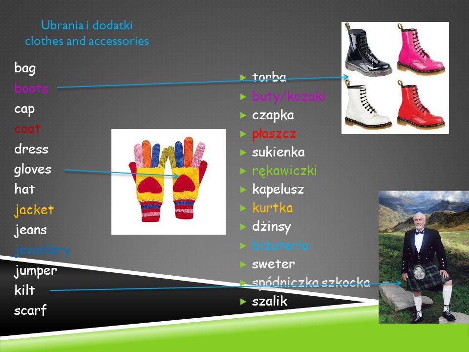 Ubrania i dodatki clothes and accessories  torba  buty/kozaki  czapka  płaszcz  sukienka  rękawiczki  kapelusz  kurtka  dżinsy  biżuteria 
