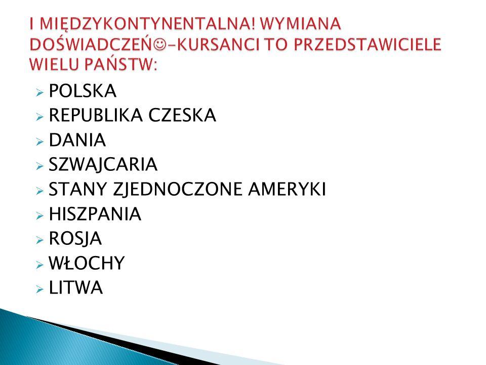  POLSKA  REPUBLIKA CZESKA  DANIA  SZWAJCARIA  STANY ZJEDNOCZONE AMERYKI  HISZPANIA  ROSJA  WŁOCHY  LITWA