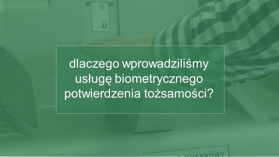 dlaczego wprowadziliśmy usługę biometrycznego potwierdzenia tożsamości