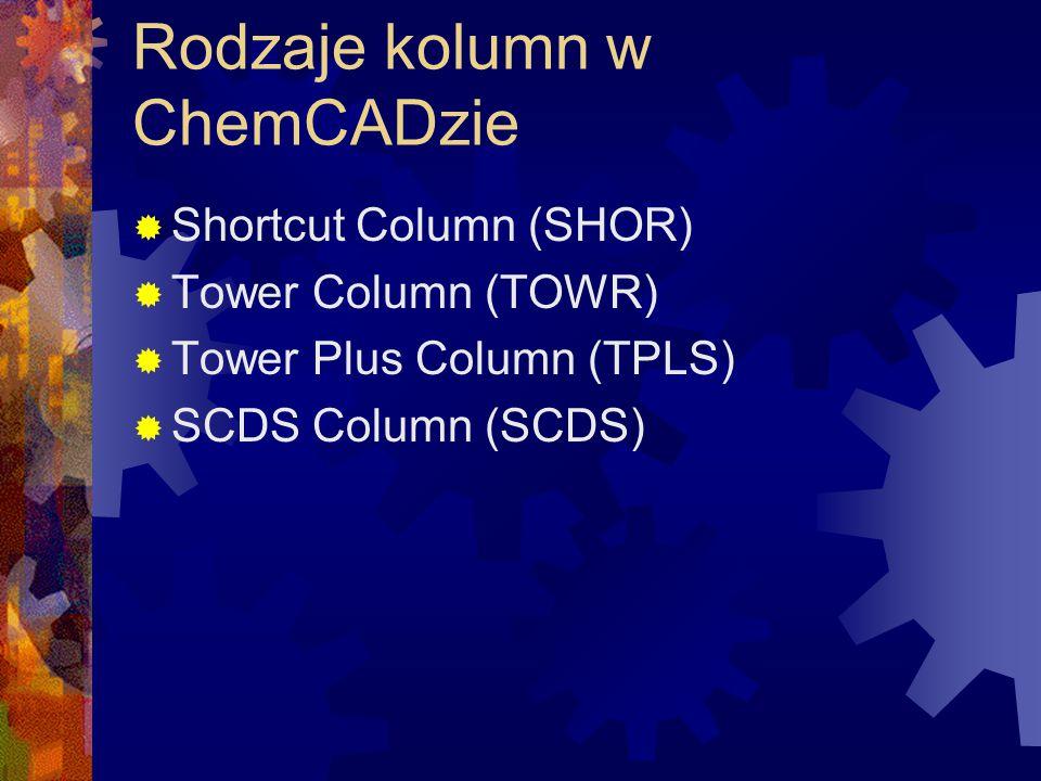 Wymiennik ciepła dwustronny CC-Therm, TEMA Korzystanie z modułu CC-Therm  Obliczenia bilansowe  Menu/Sizing/Shell&Tube  Zaznaczyć wymiennik  Wskazać, który czynnik wchodzi do rurek