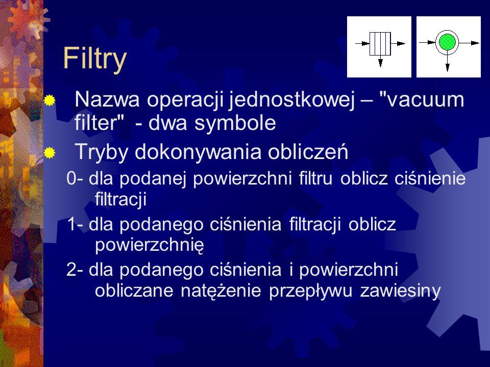 Filtry  Nazwa operacji jednostkowej –