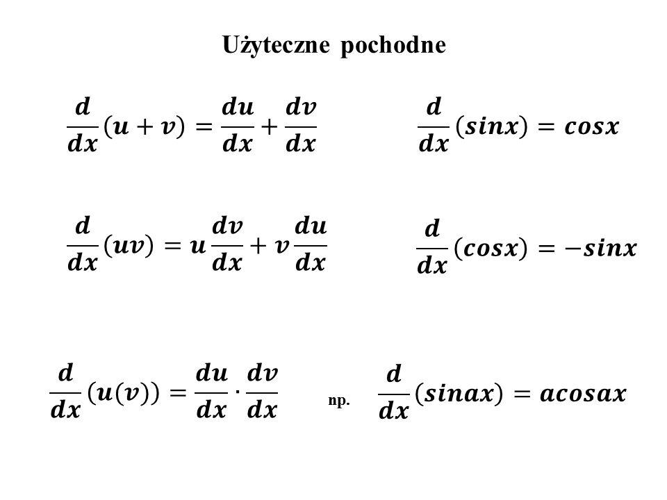 Interpretacja geometryczna pochodnej x df f(x) dx 