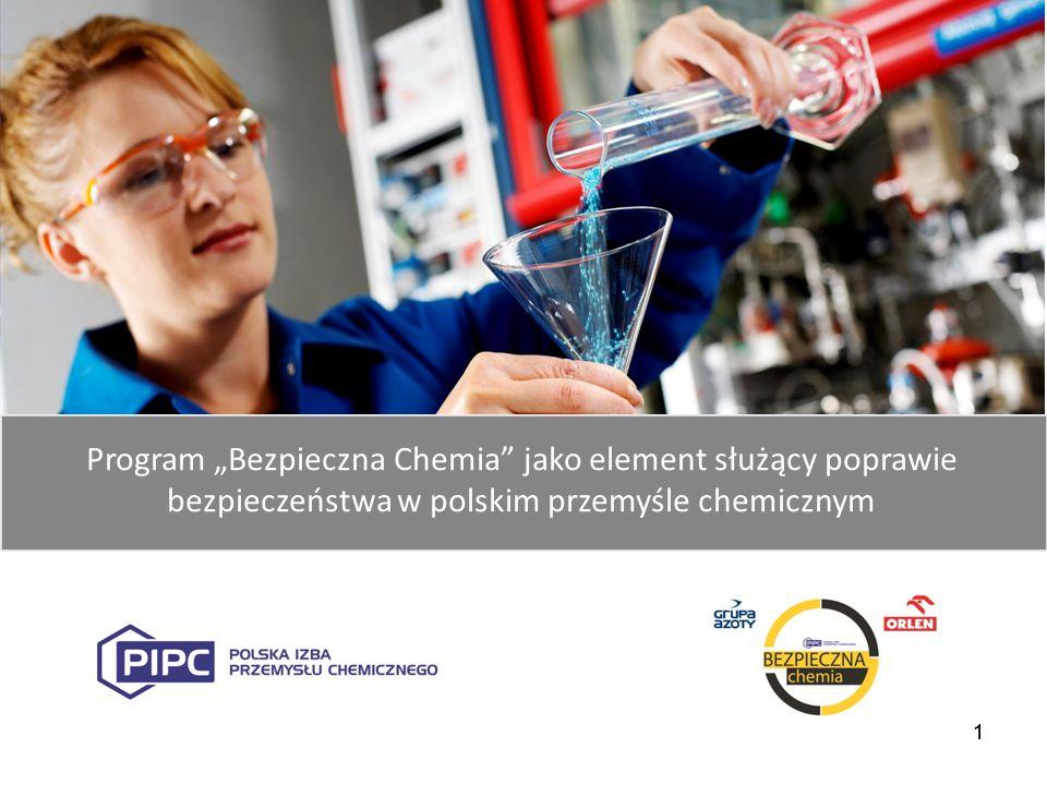 """1 Program """"Bezpieczna Chemia"""" jako element służący poprawie bezpieczeństwa w polskim przemyśle chemicznym 1"""