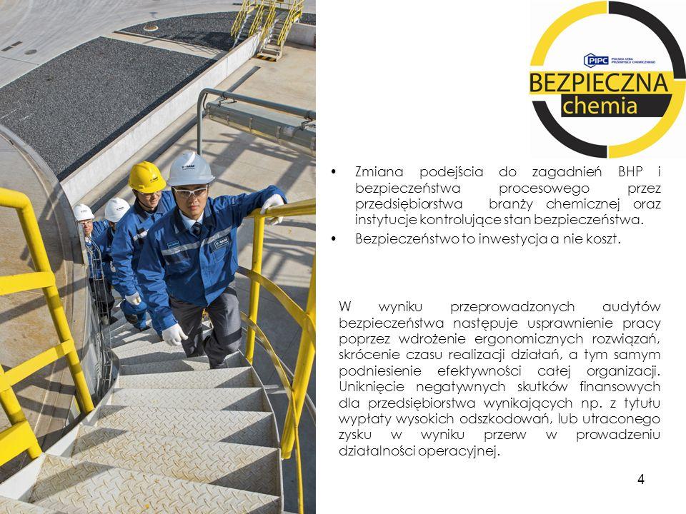 Zmiana podejścia do zagadnień BHP i bezpieczeństwa procesowego przez przedsiębiorstwa branży chemicznej oraz instytucje kontrolujące stan bezpieczeńst