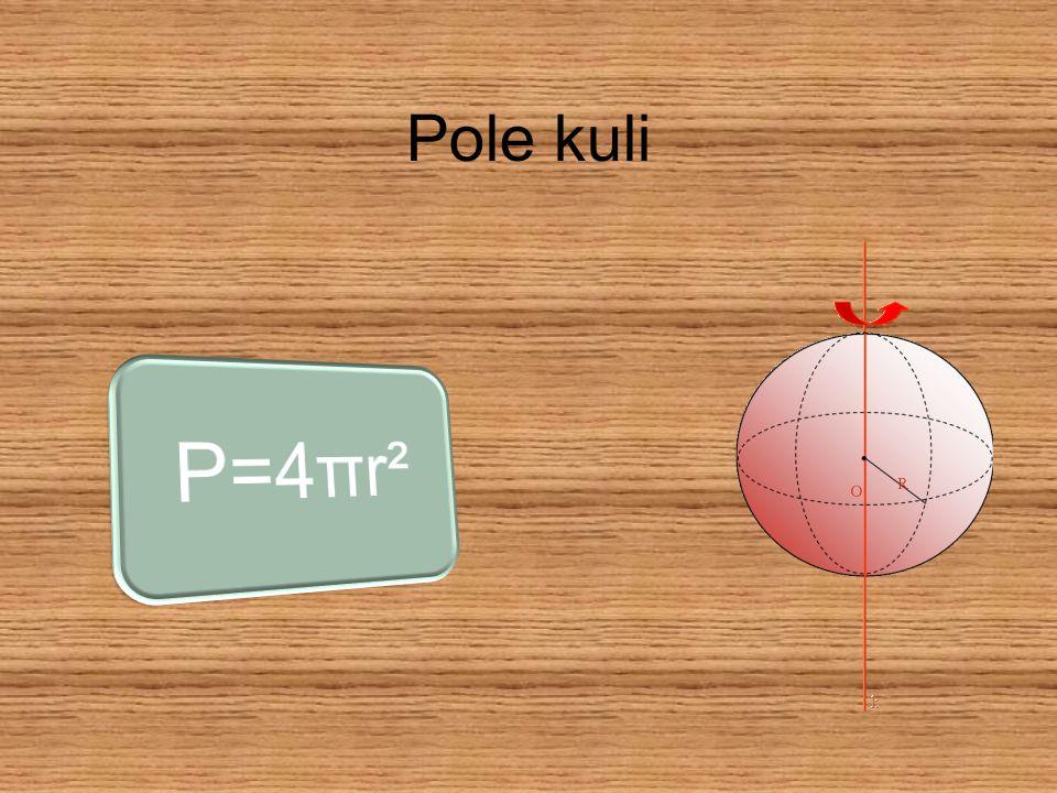 V=4/3 πr³ V=objętoś ć kuli r=promień Objętość kuli