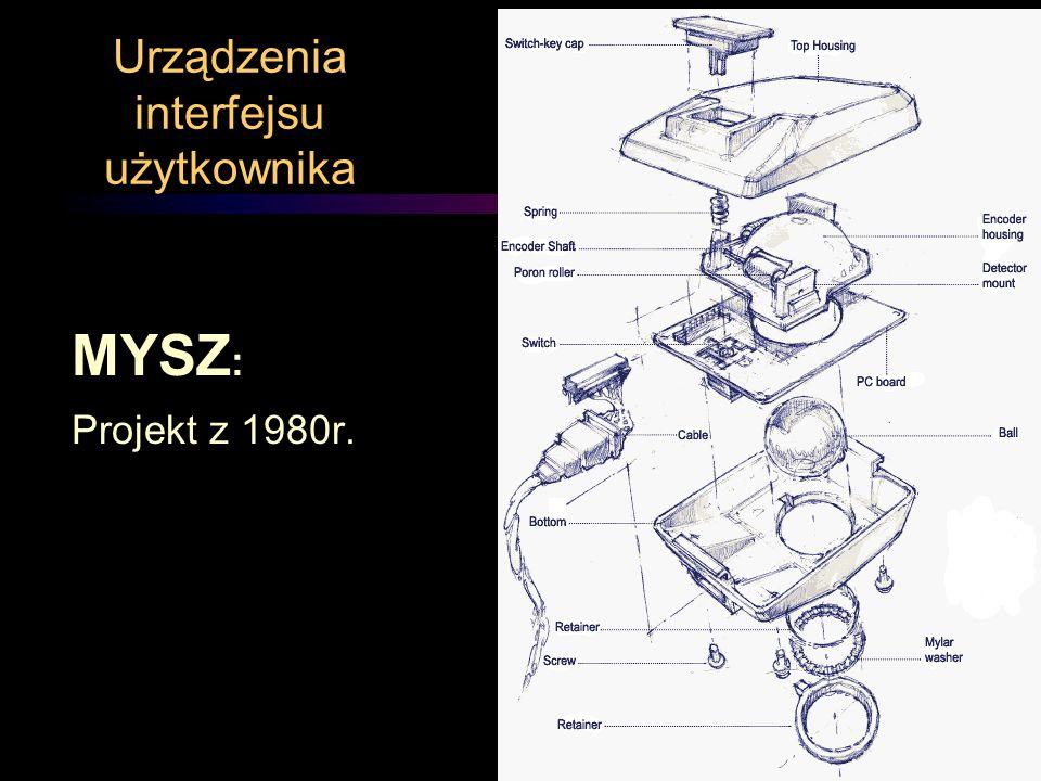 Urządzenia interfejsu użytkownika MYSZ : Projekt z 1980r.