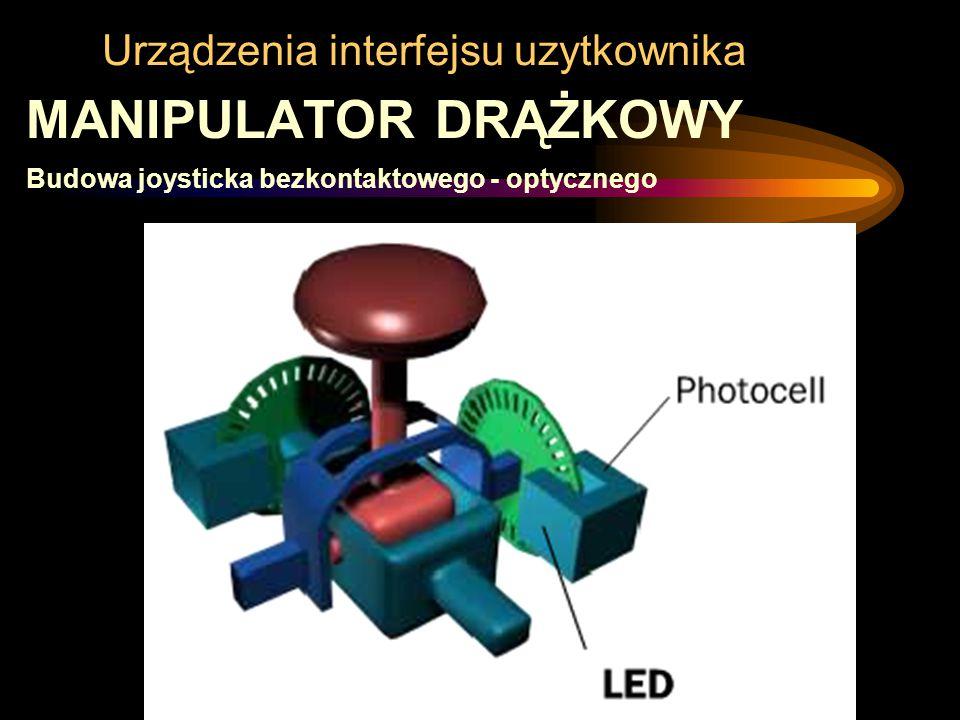 Urządzenia interfejsu uzytkownika MANIPULATOR DRĄŻKOWY Budowa joysticka bezkontaktowego - optycznego