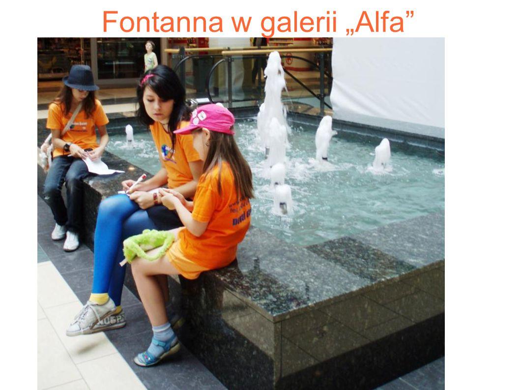 "Fontanna w galerii ""Alfa"