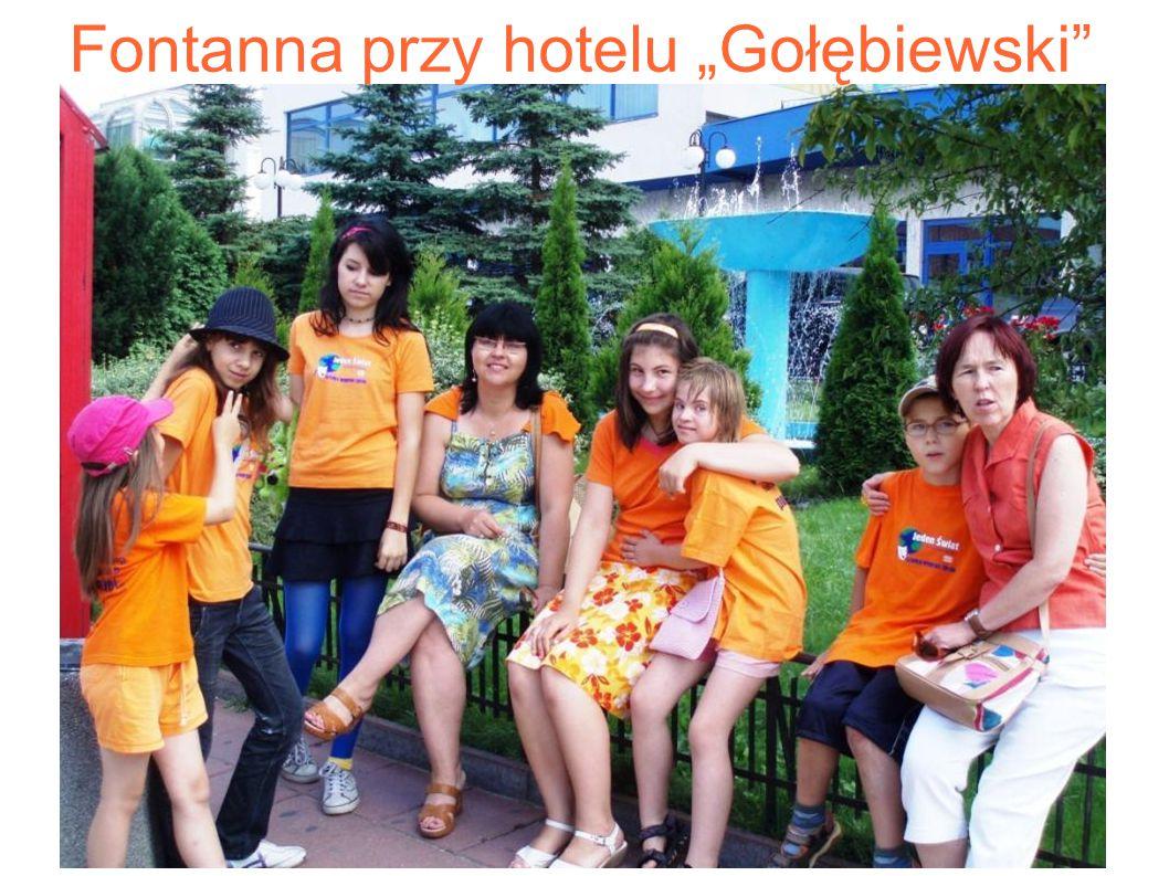 """Fontanna przy hotelu """"Gołębiewski"""