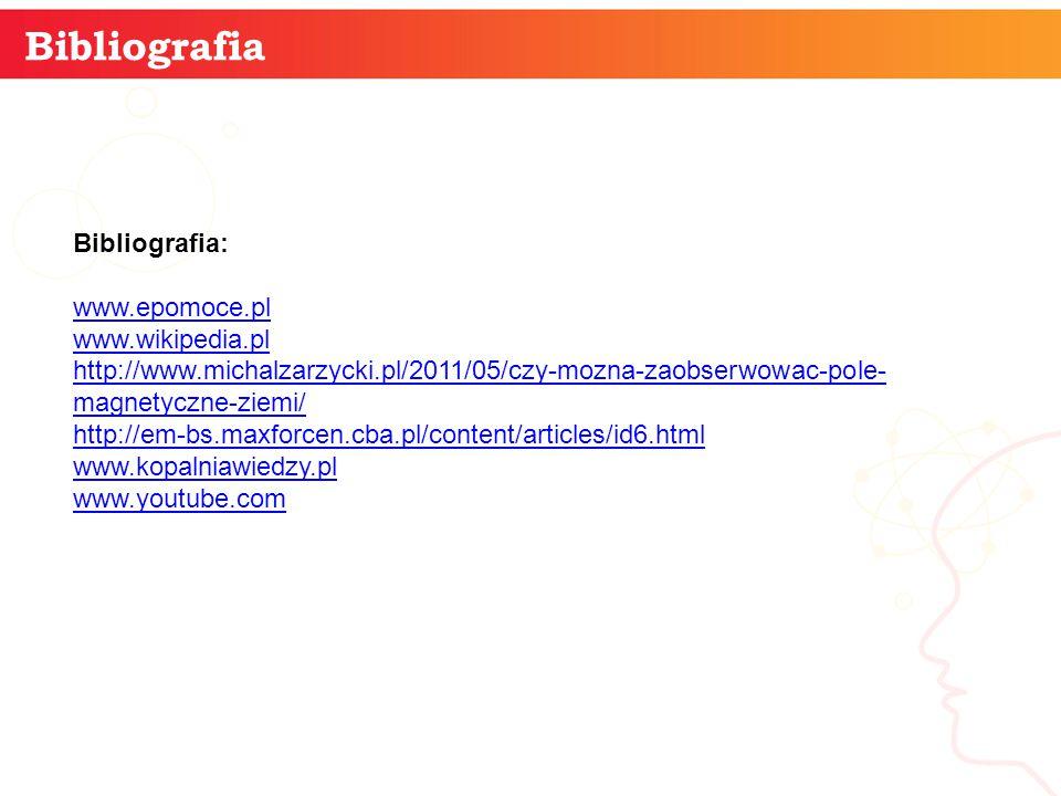 informatyka + 13 Bibliografia Bibliografia: www.epomoce.pl www.wikipedia.pl http://www.michalzarzycki.pl/2011/05/czy-mozna-zaobserwowac-pole- magnetyc