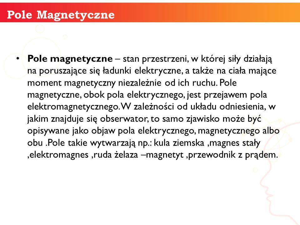 Pole magnetyczne – stan przestrzeni, w której siły działają na poruszające się ładunki elektryczne, a także na ciała mające moment magnetyczny niezale