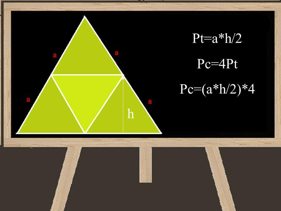 Pt=a*h/2 Pc=4Pt Pc=(a*h/2)*4 h