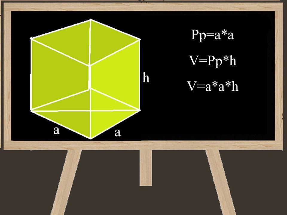 Pp=a*a V=Pp*h V=a*a*h h a a