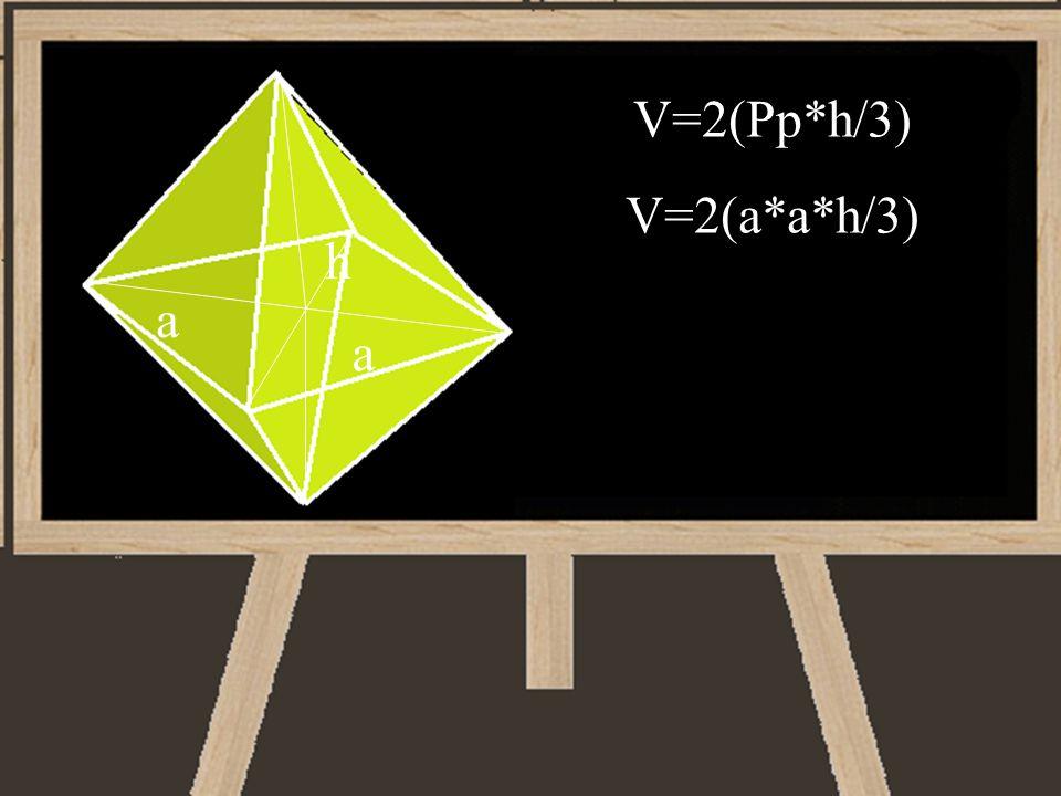 V=2(Pp*h/3) V=2(a*a*h/3) a a h