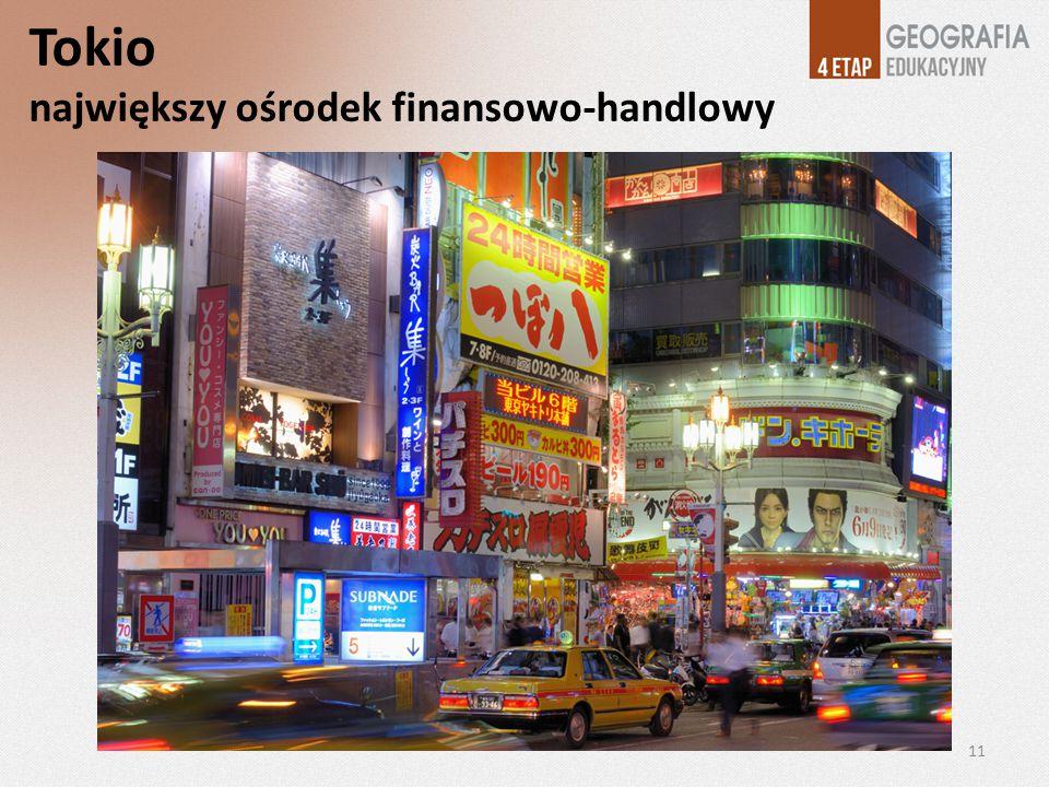 Tokio największy ośrodek finansowo-handlowy 11