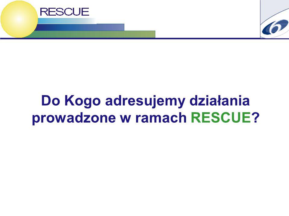 Do Kogo adresujemy działania prowadzone w ramach RESCUE
