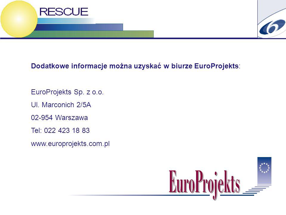 Dodatkowe informacje można uzyskać w biurze EuroProjekts: EuroProjekts Sp.