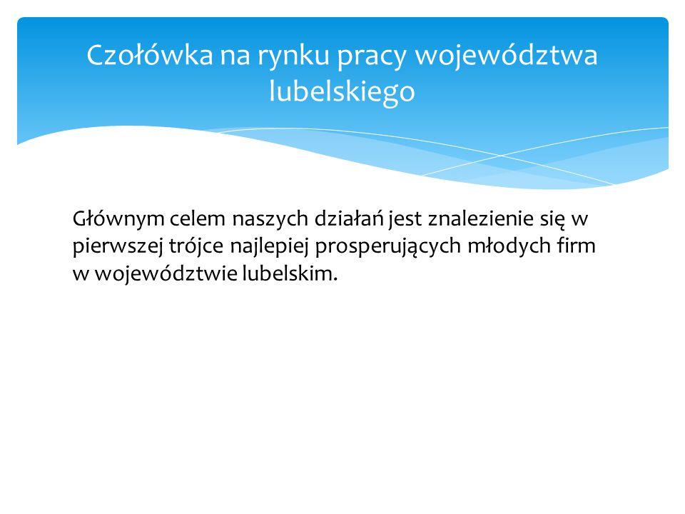 Głównym celem naszych działań jest znalezienie się w pierwszej trójce najlepiej prosperujących młodych firm w województwie lubelskim.