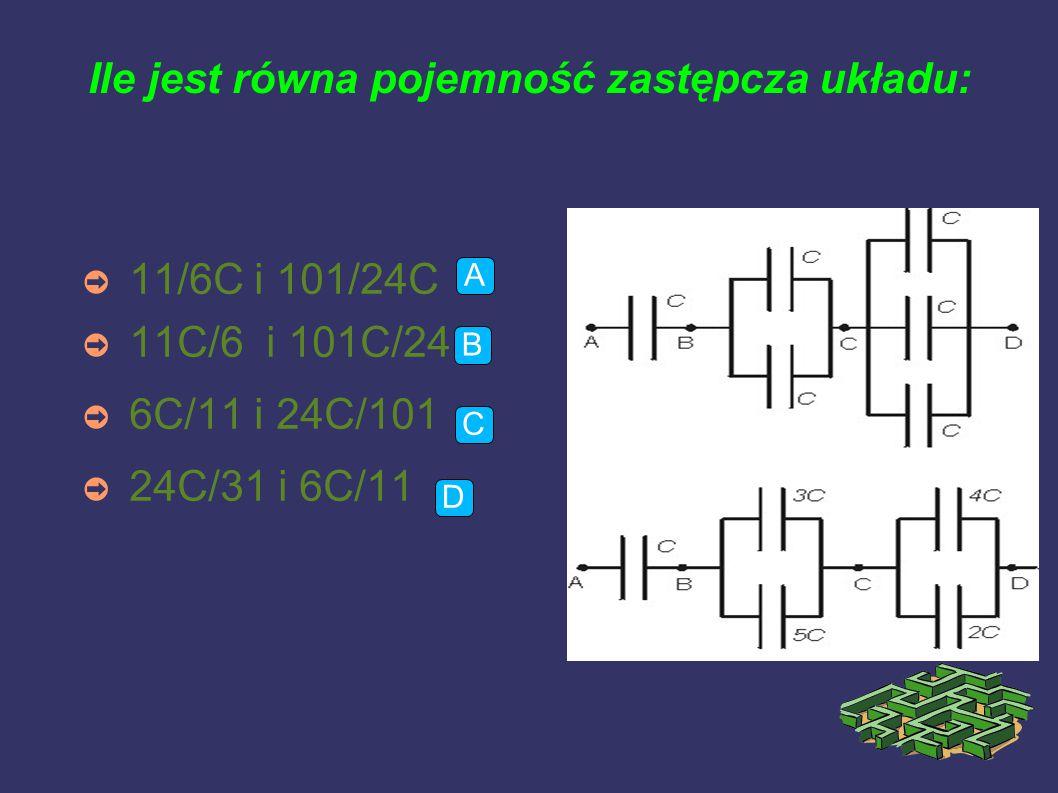 Między okładki naładowanego i odłączonego kondensatora wsunięto dielektryk o przenikalności 3.