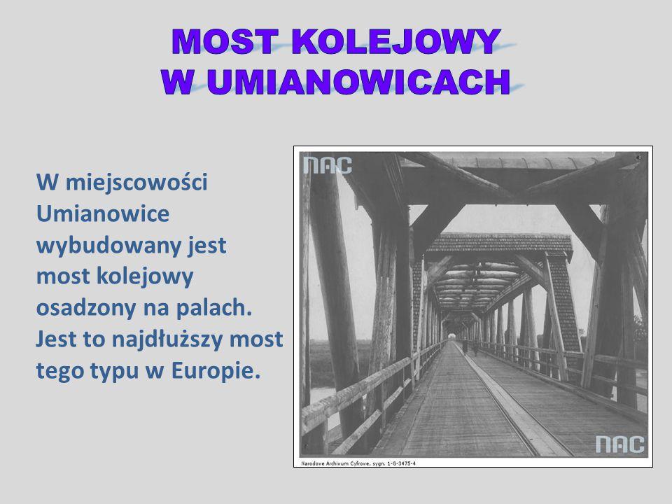 W miejscowości Umianowice wybudowany jest most kolejowy osadzony na palach. Jest to najdłuższy most tego typu w Europie.