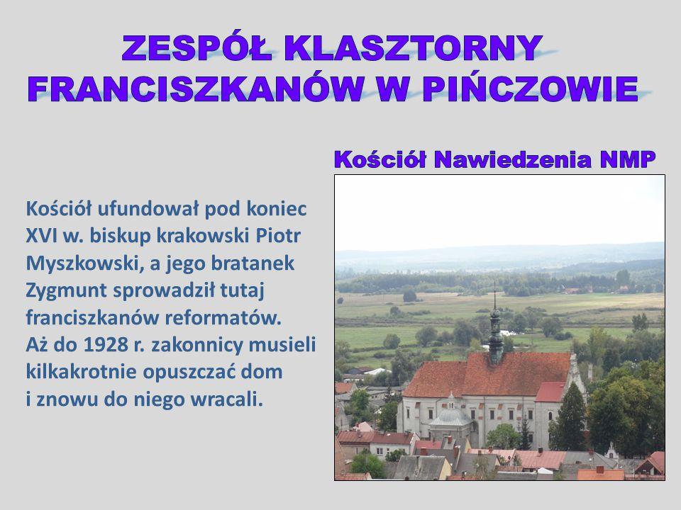 Kościół ufundował pod koniec XVI w. biskup krakowski Piotr Myszkowski, a jego bratanek Zygmunt sprowadził tutaj franciszkanów reformatów. Aż do 1928 r