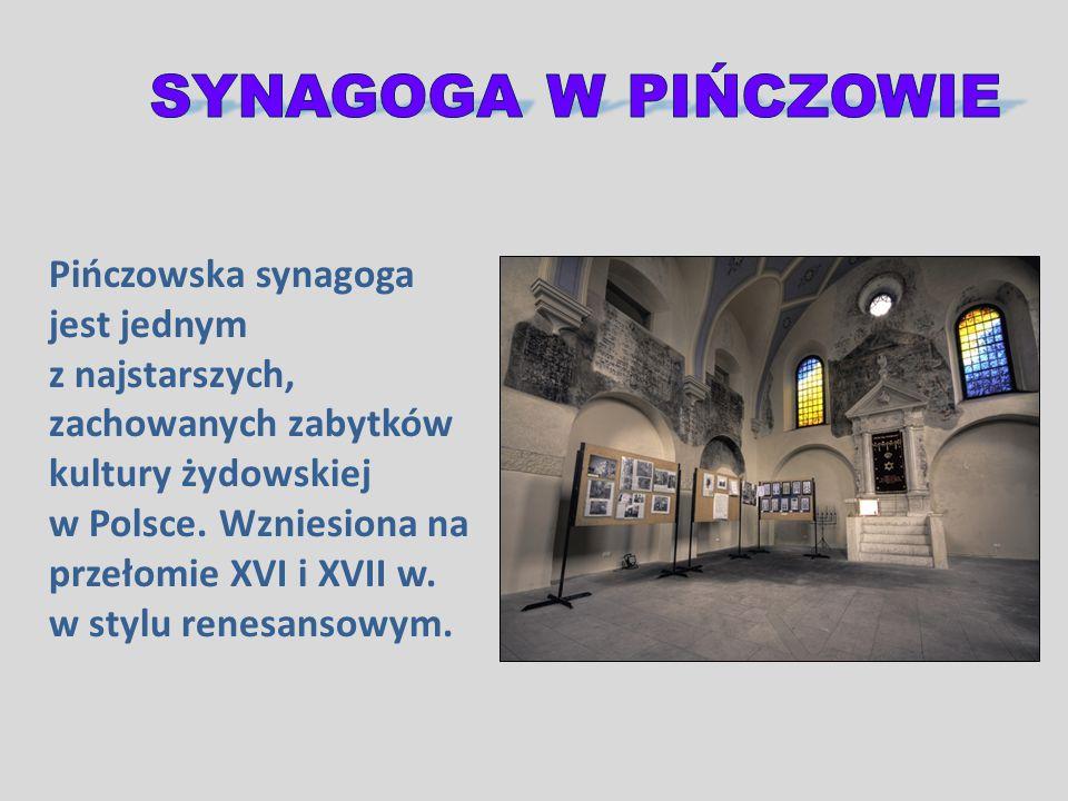 Pińczowska synagoga jest jednym z najstarszych, zachowanych zabytków kultury żydowskiej w Polsce. Wzniesiona na przełomie XVI i XVII w. w stylu renesa