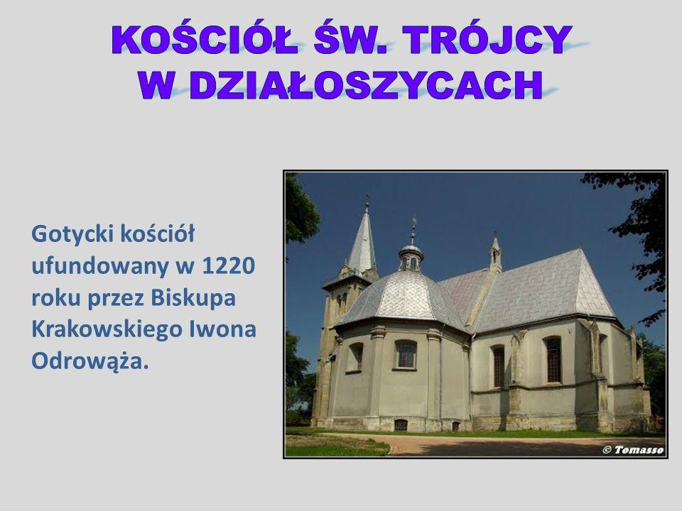 Gotycki kościół ufundowany w 1220 roku przez Biskupa Krakowskiego Iwona Odrowąża.