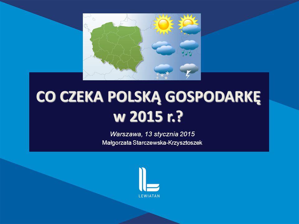 CO CZEKA POLSKĄ GOSPODARKĘ w 2015 r..