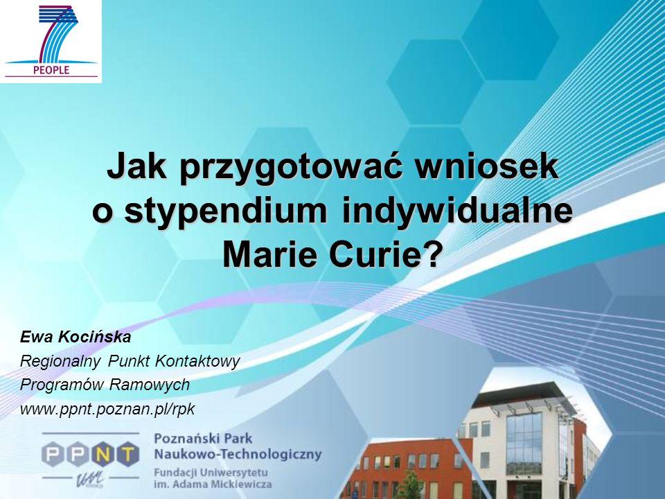Jak przygotować wniosek o stypendium indywidualne Marie Curie.