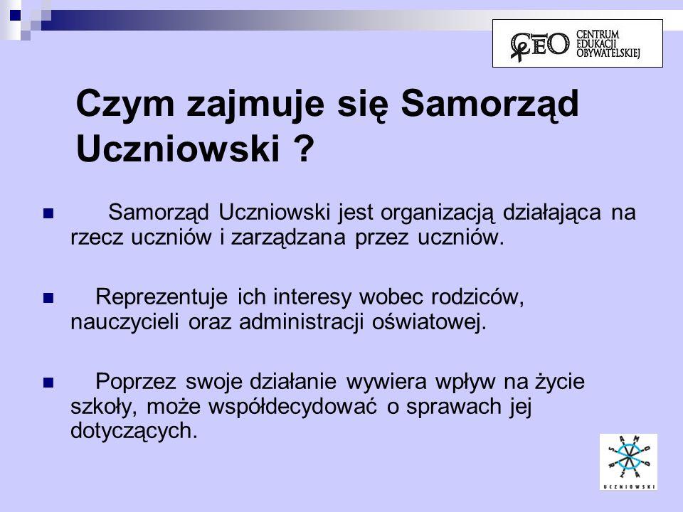 Jaki powinien być cel działania Samorządu Uczniowskiego .