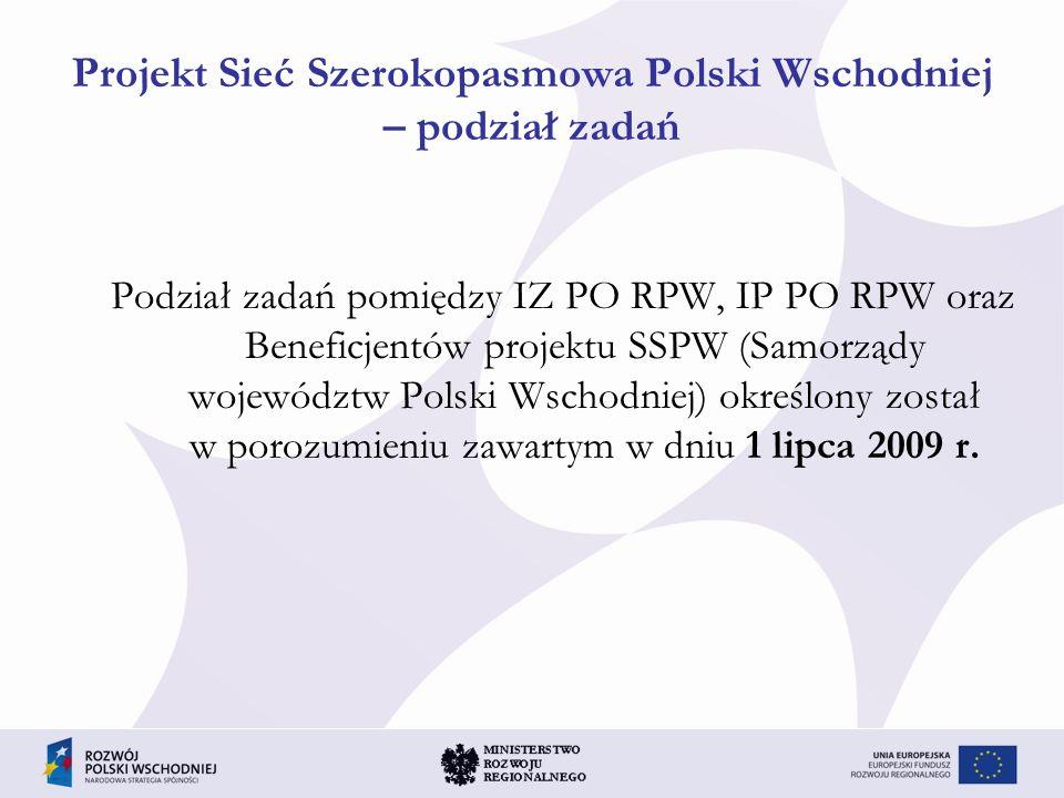Pomoc publiczna w projekcie SSPW Brak pomocy publicznej Pierwszy etap, tj.