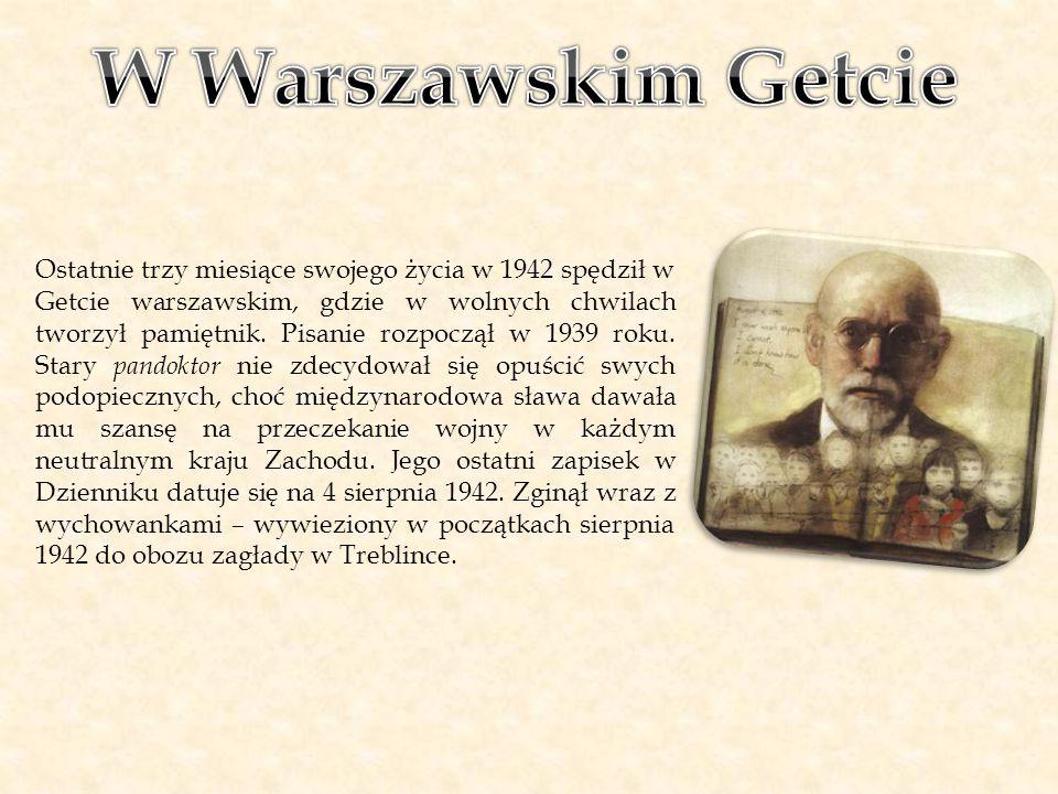 Ostatnie trzy miesiące swojego życia w 1942 spędził w Getcie warszawskim, gdzie w wolnych chwilach tworzył pamiętnik. Pisanie rozpoczął w 1939 roku. S
