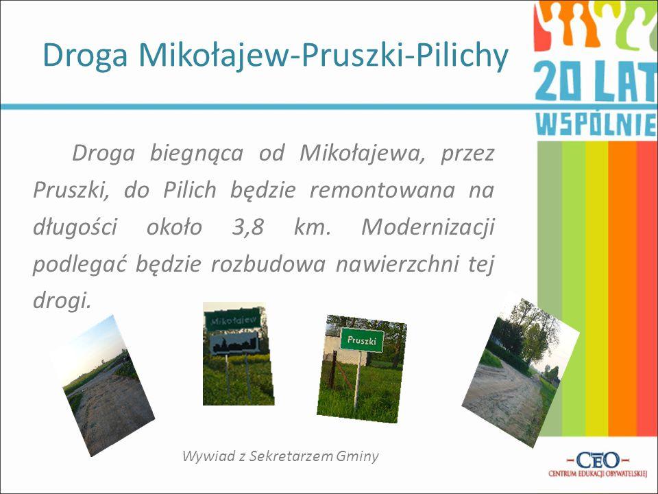 Droga biegnąca od C hrząstówka do Topoli Szlacheckiej zostanie wyremontowana na długości około 1,4 km.