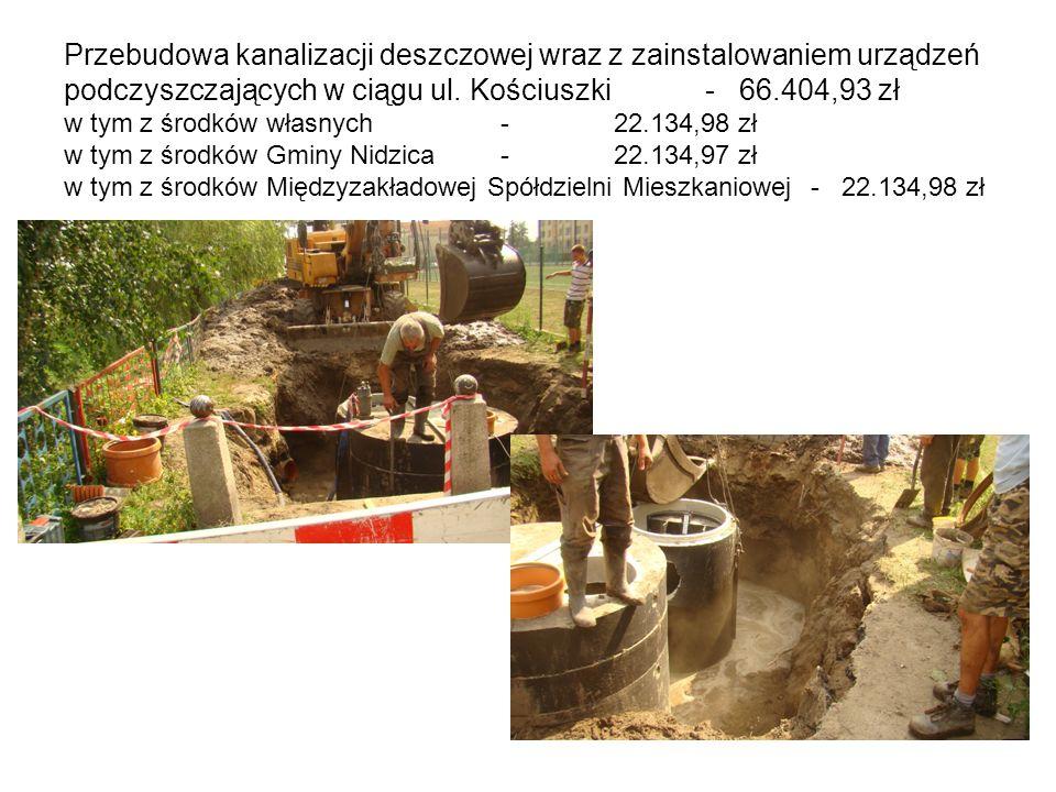 Przebudowa kanalizacji deszczowej wraz z zainstalowaniem urządzeń podczyszczających w ciągu ul.