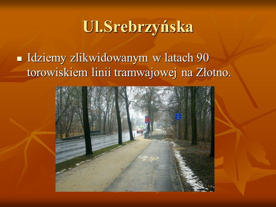 Ul.Srebrzyńska Idziemy zlikwidowanym w latach 90 torowiskiem linii tramwajowej na Złotno.