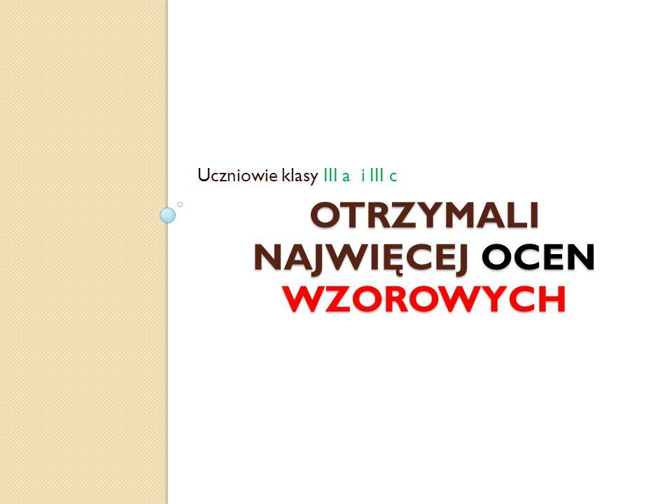 Najwyższa średnia ocen klasa I a5,07 – Zuzanna Wrona klasa I b 5,38 – Julia Hytry 4,93 – Barbara Ambroziak