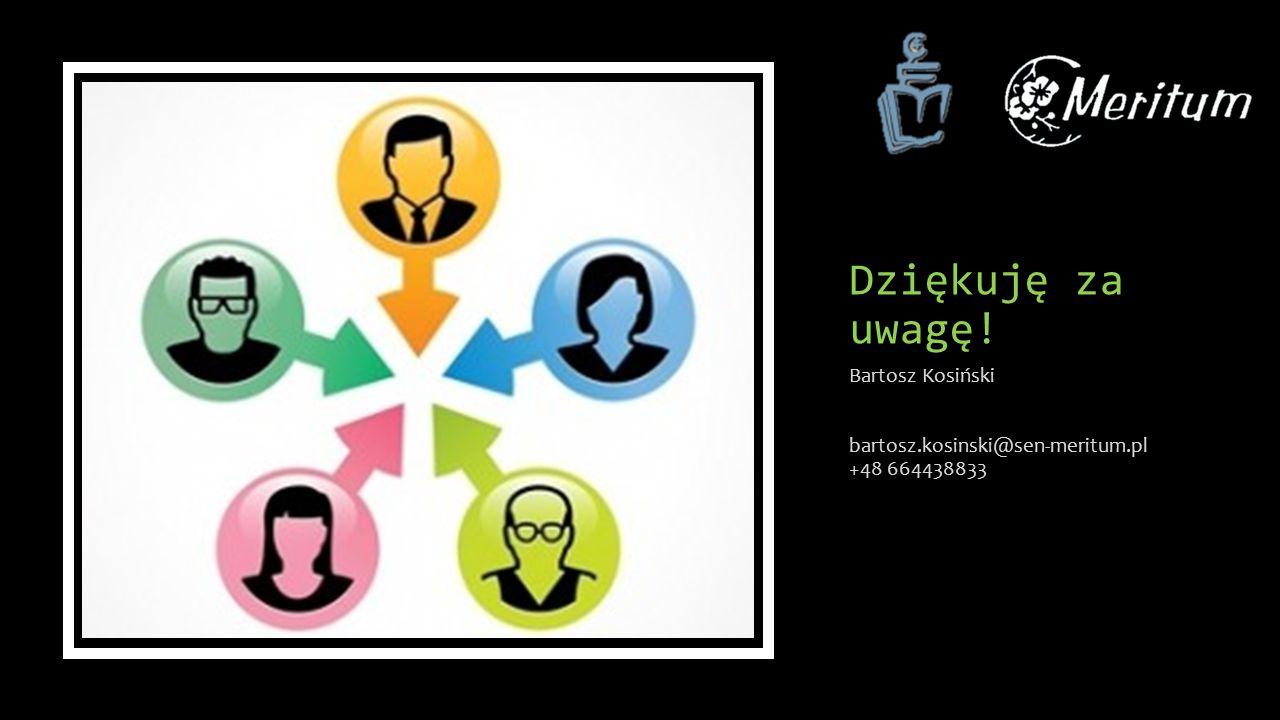 Dziękuję za uwagę! Bartosz Kosiński bartosz.kosinski@sen-meritum.pl +48 664438833