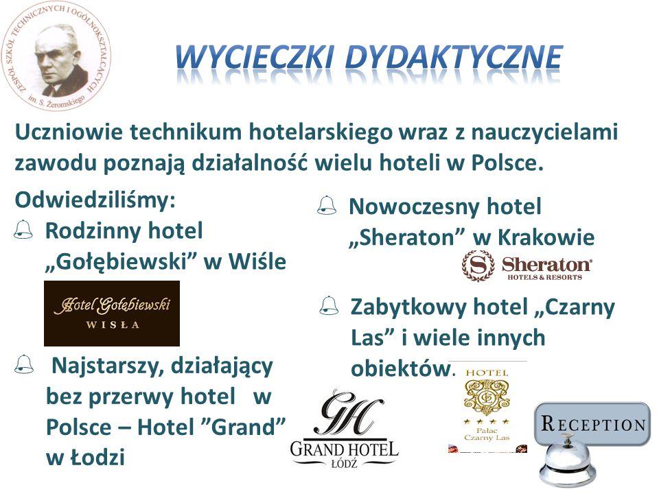 Uczniowie technikum hotelarskiego wraz z nauczycielami zawodu poznają działalność wielu hoteli w Polsce. Odwiedziliśmy:  Najstarszy, działający bez p