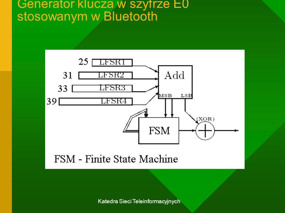 Katedra Sieci Teleinformacyjnych Generator klucza w szyfrze E0 stosowanym w Bluetooth