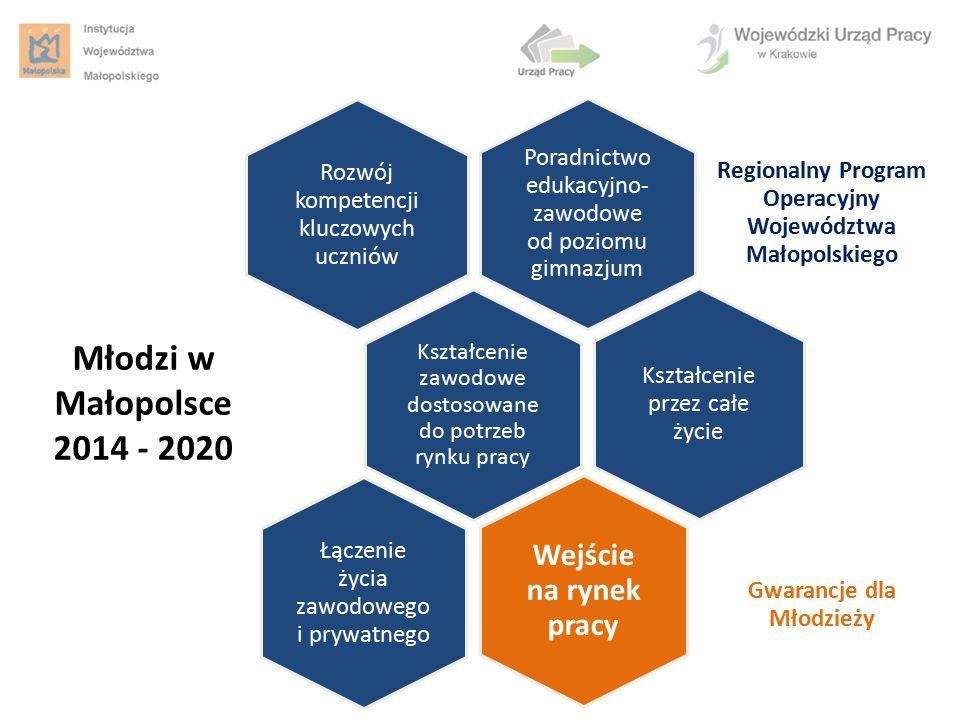 Kształcenie zawodowe dostosowane do potrzeb rynku pracy Regionalny Program Operacyjny Województwa Małopolskiego Rozwój kompetencji kluczowych uczniów