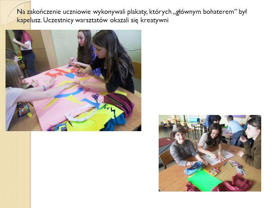 Praca dzieci została nagrodzona słodyczami.Wszyscy świetnie bawiąc się, jednocześnie uczyli się.